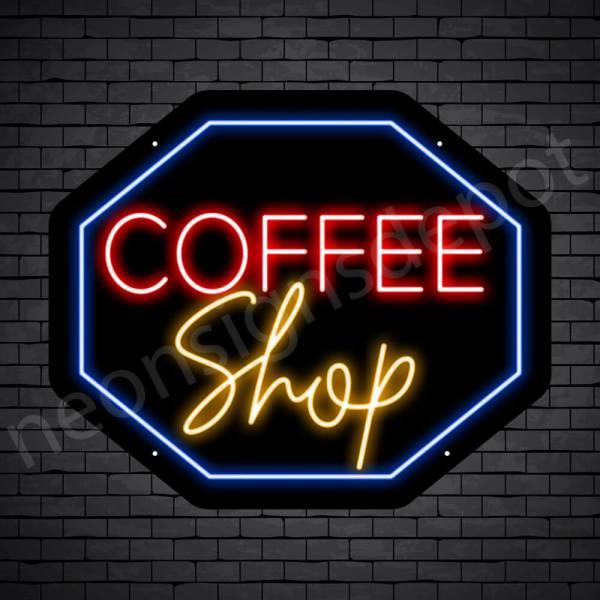 Coffee Neon Sign Coffee Shop Hexagon 24X20