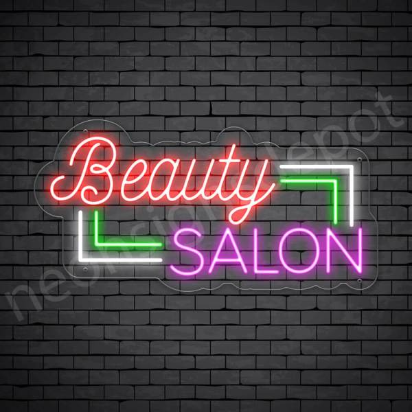 Hair Salon Neon Sign Beauty Salon Transparent 24x12