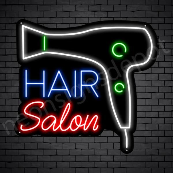 Hair Salon Neon Sign Blower Hair Salon Black 24x22
