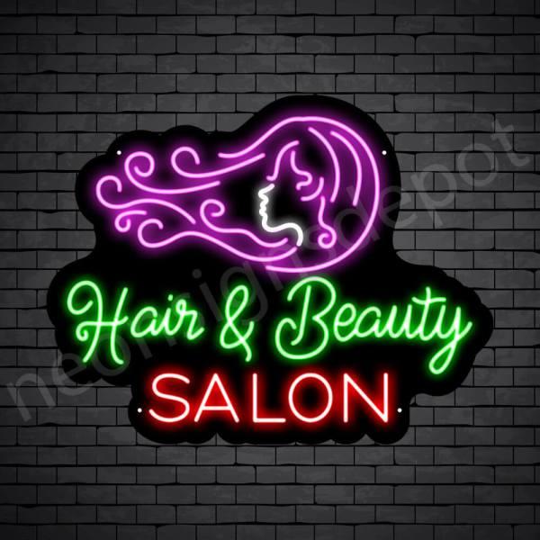 Hair Salon Neon Sign Hair & Beauty Salon Black 26x20