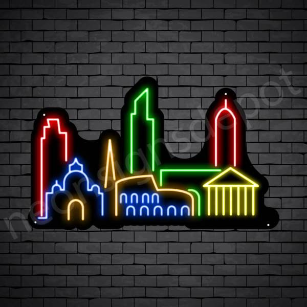 Beautiful City Neon Sign Black