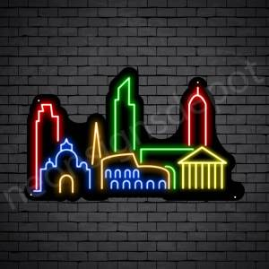 Beautiful City Neon Sign Black