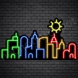 City Neon Sign Black 30x16