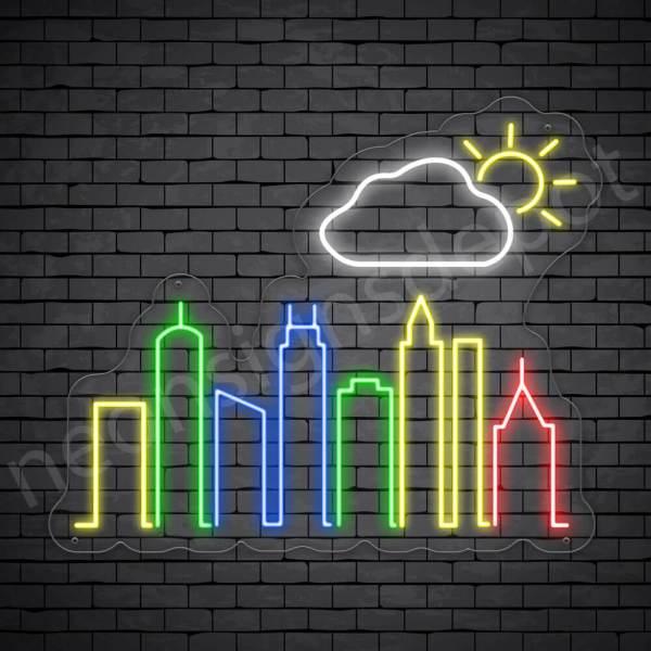 Cloud Autumn City Neon Sign