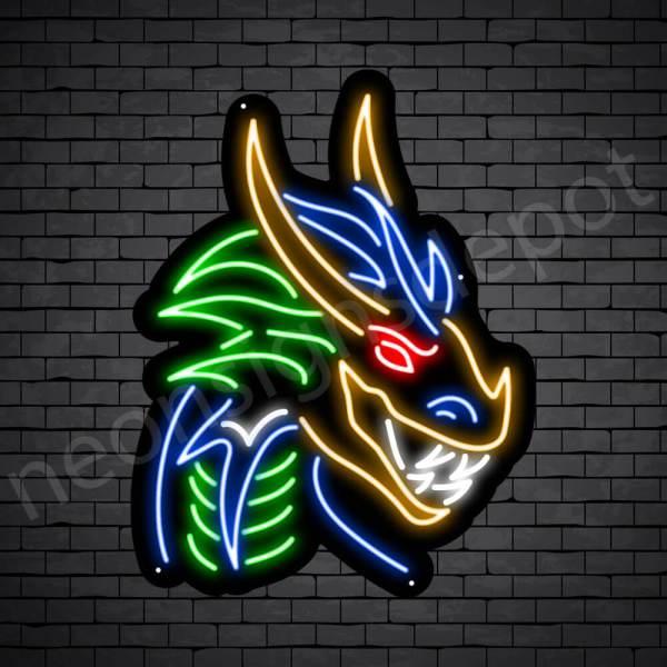 Dragon Neon Sign Dark Shadow Dragon