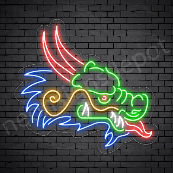 Venom Dragon Neon Sign Transparent