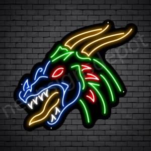 Dragon Neon Sign Soccer Dragon Black 24x22