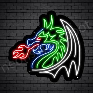 Tuber Dragon Neon Sign Black