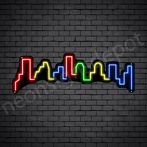 Meca City Neon Sign Black