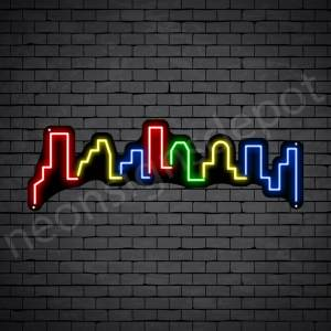 Meca City Neon Sign Black