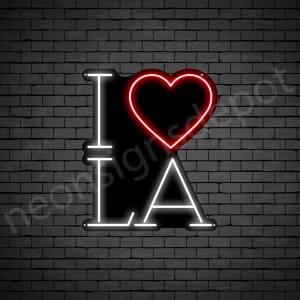 I Love LA Neon Sign - Black