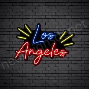 Los Angeles Rays Neon Sign - Black