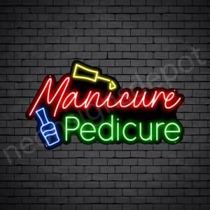 Manicure Pedicure Neon Sign - black