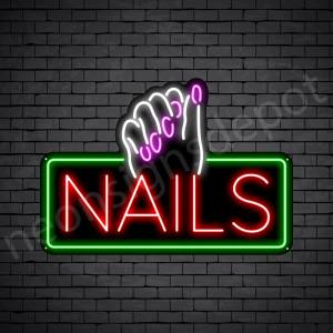 Nails Neon Sign - Black