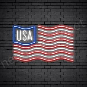 USA Flag Neon Signs