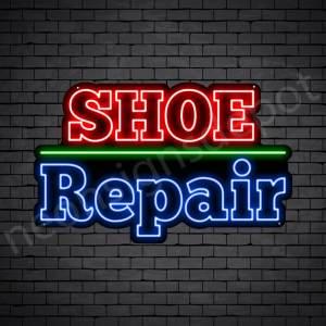 OL Shoe Repair Neon Sign - Black