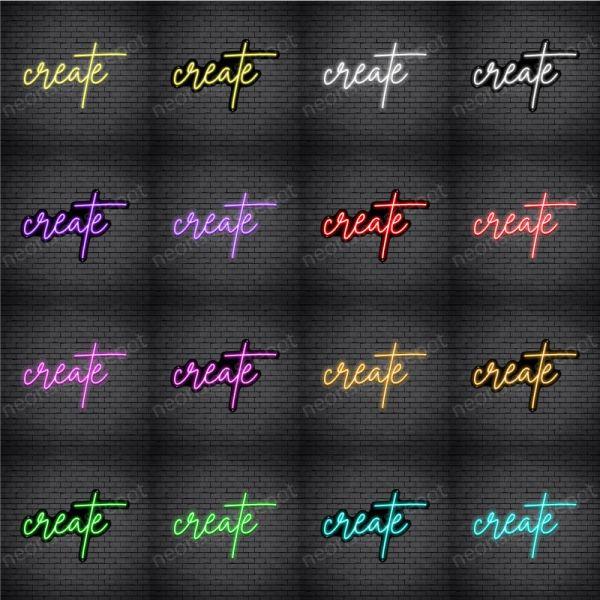 Create V4 Neon Sign