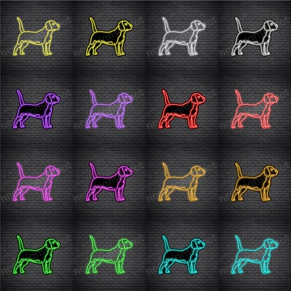 Beagles Dog V1 Neon Sign