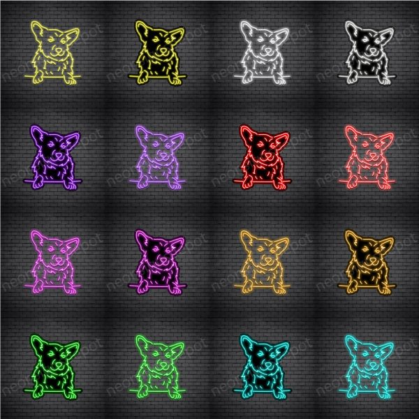 Corgis Dog V1 Neon Sign