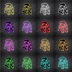 Labrador Retriever Dog V1 Neon Sign