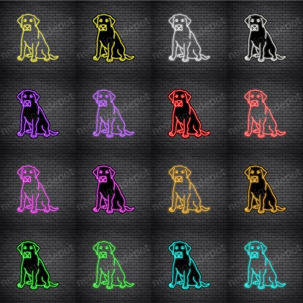 Labrador Retriever Dog V3 Neon Sign