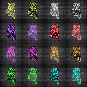 Rottweilers Dog V2 Neon Sign