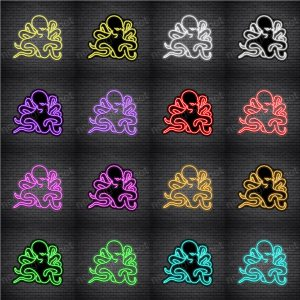 Octopus V2 Neon Sign