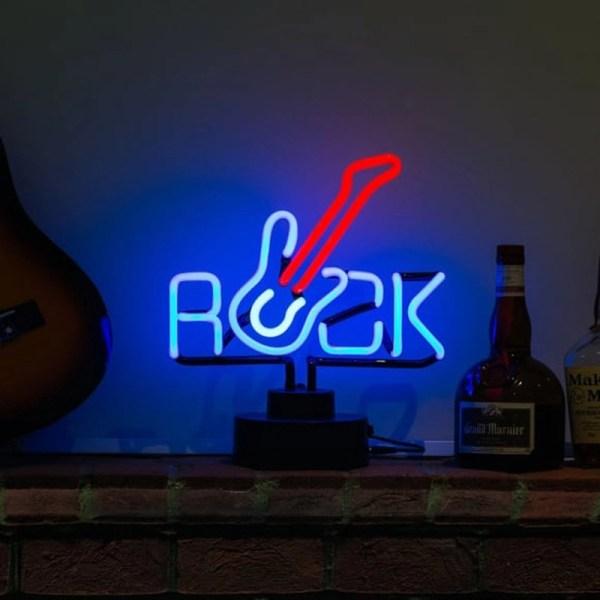 Rock Guitar Desktop Neon Sign