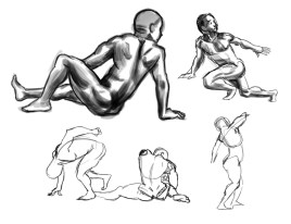 daily gesture drawing 2015-02-11