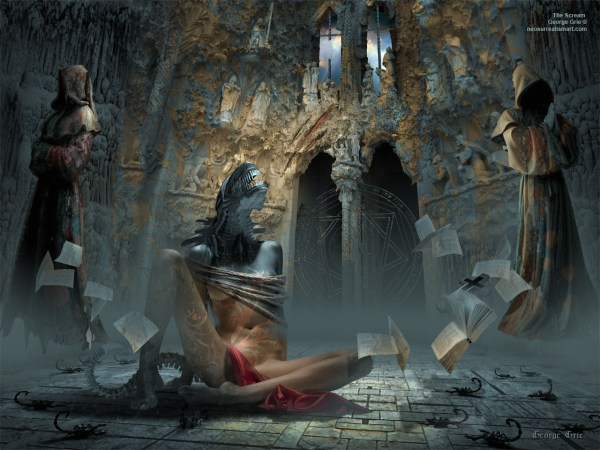 Scream Induced Exorcism Surrealism Religion And