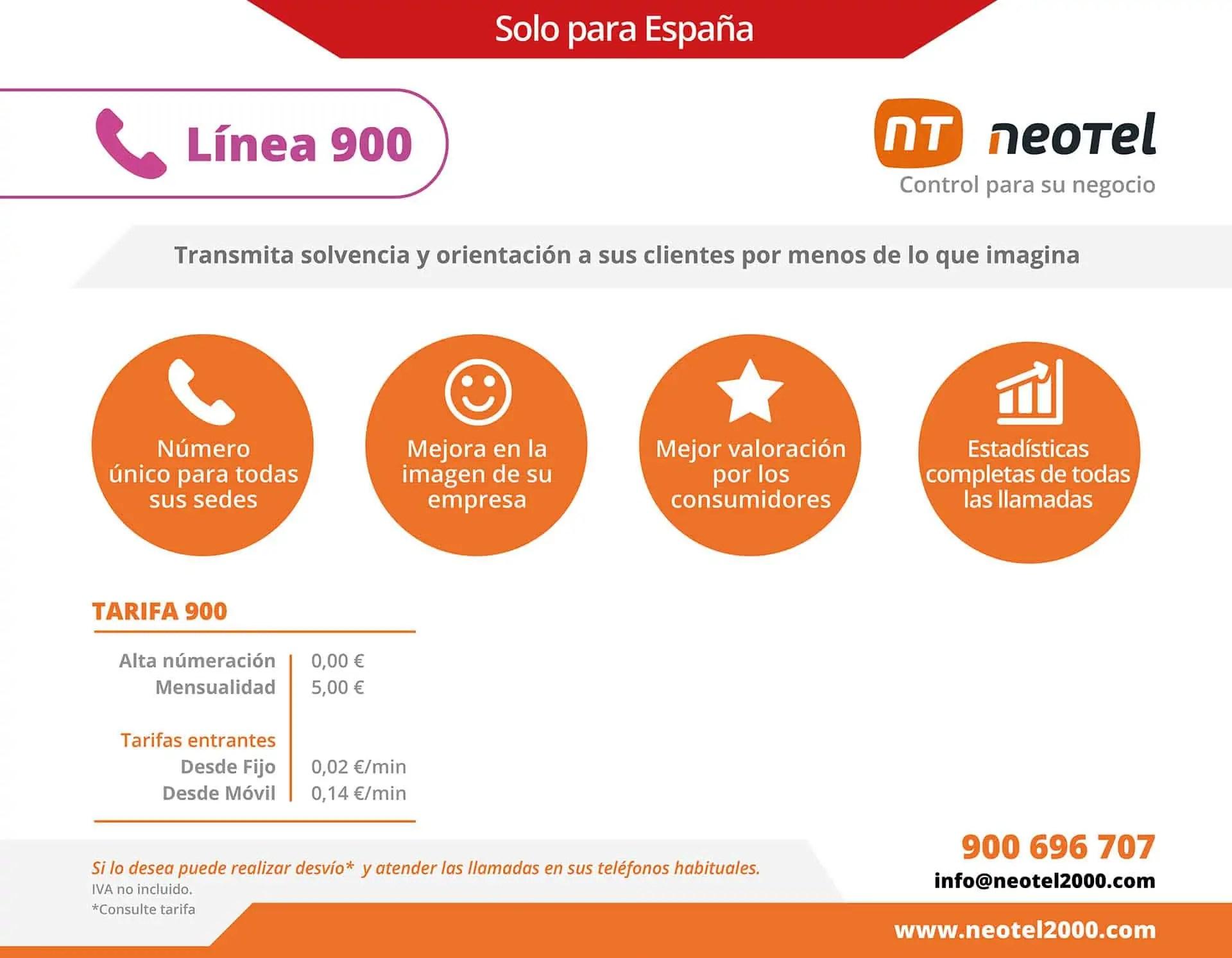 contratar línea 900