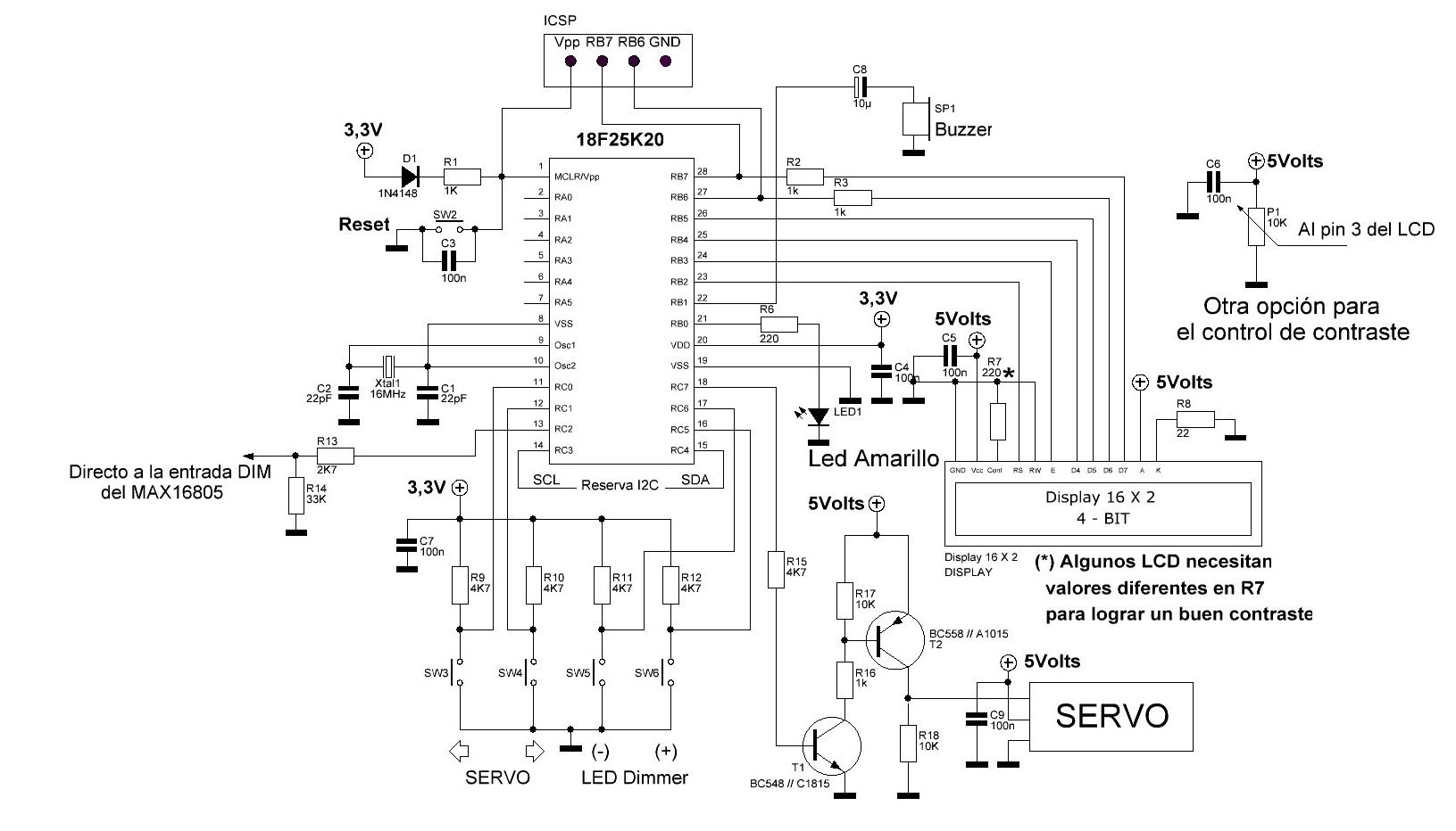 Led Control Pwm Servo Y Led Dimmer