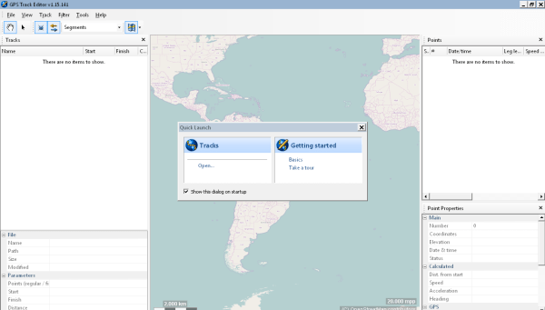 GPS Track Editor es una aplicación con la cual podrás editar pistas de GPS