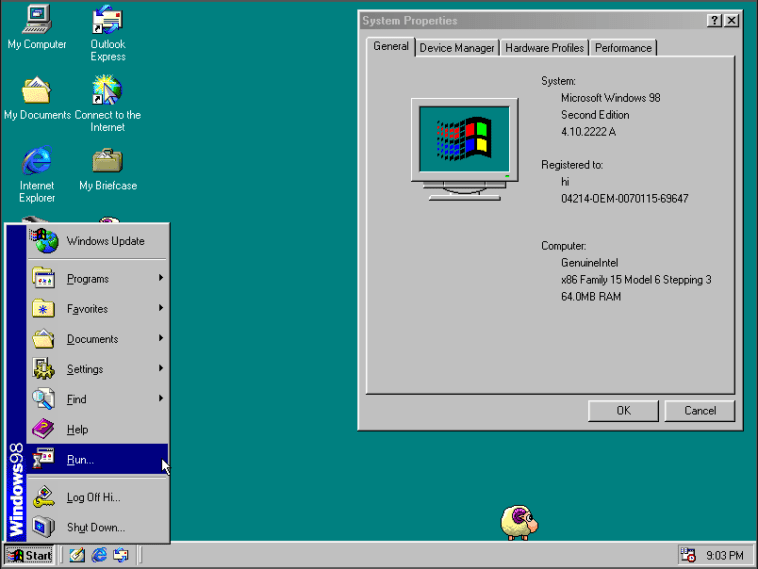 windows 98 online y