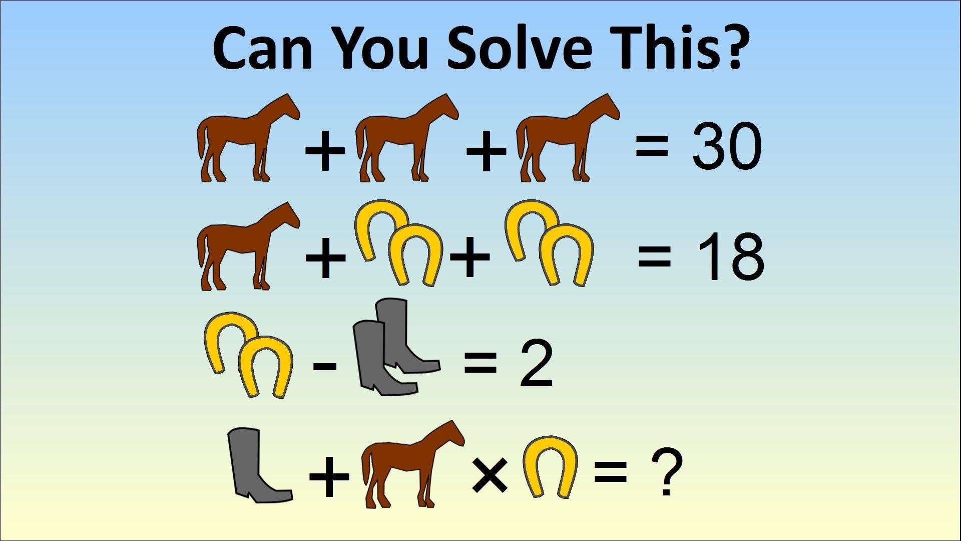 Caballos Botas Y Herraduras Otro Problema De Algebra Que