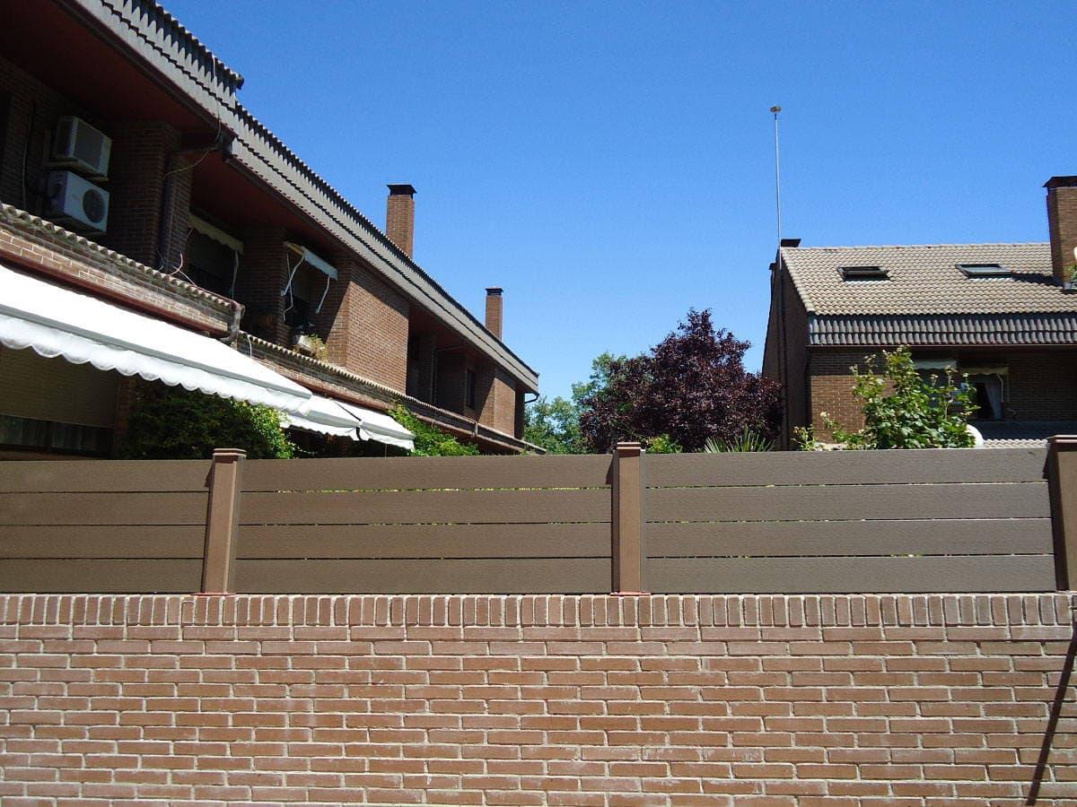 Cerramientos de terrazas en madera sint tica sin mantenimiento - Como cubrir una terraza ...