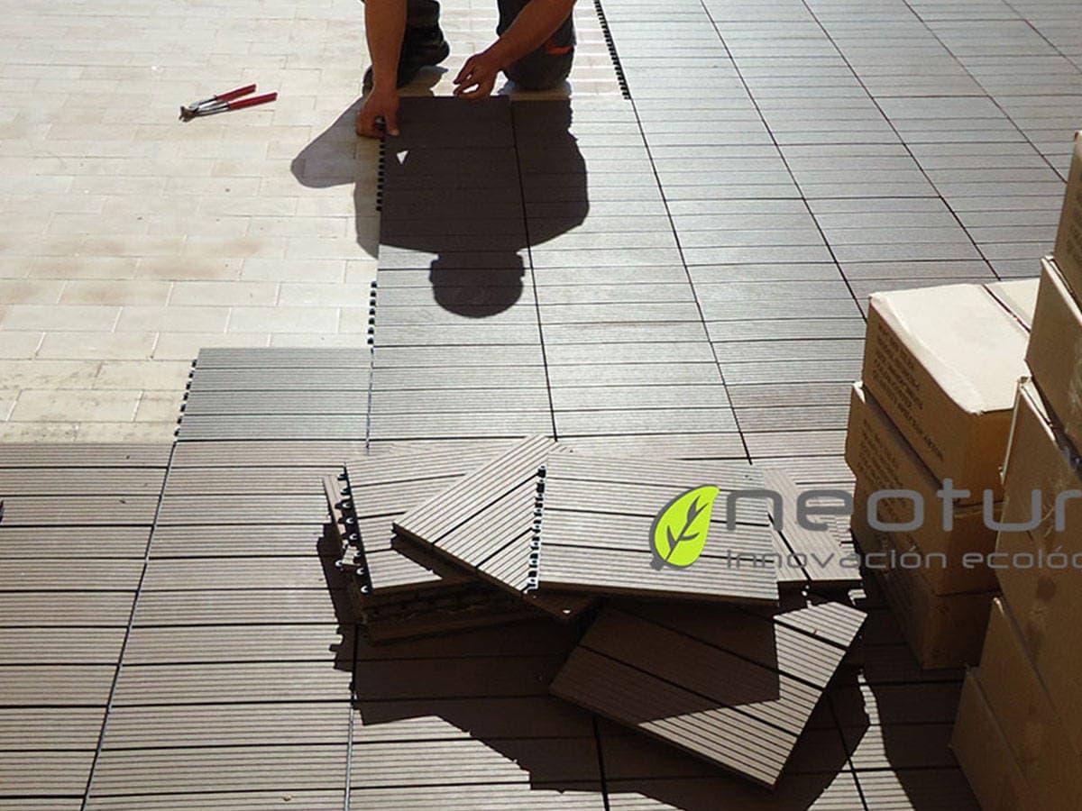 Instalar baldosas madera tecnologica para exterior