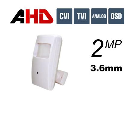 מצלמת אבטחה נסתרת בגלאי נפח AHD 2MP