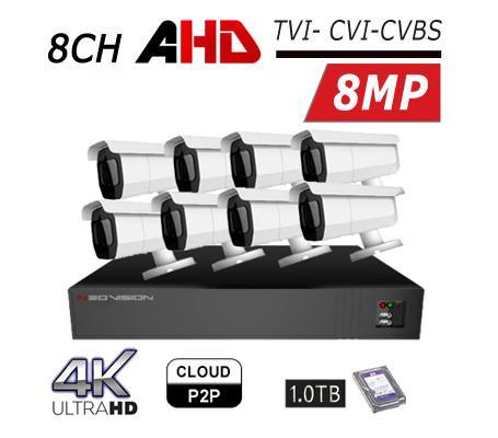 מערכת מצלמות אבטחה 8CH 4K