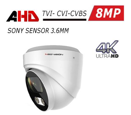 מצלמת אבטחה כיפה AHD 8MP