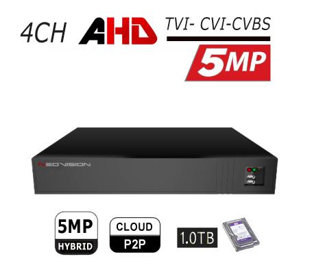 מכשיר הקלטה 4 ערוצים AHD 5MP