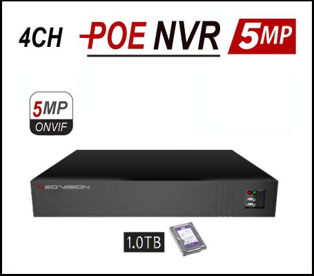 מכשיר הקלטה POE 4CH 5MP