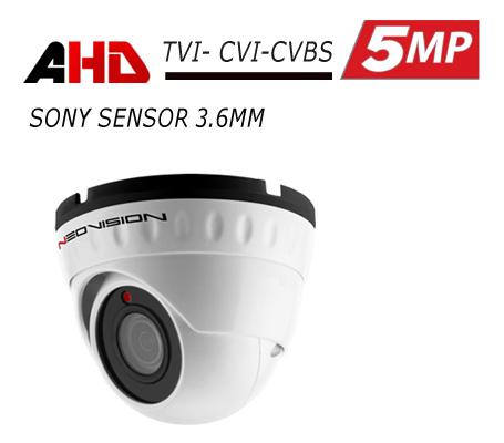 מצלמת אבטחה כיפה AHD 5MP
