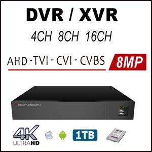 מכשירי הקלטה DVR AHD 4K