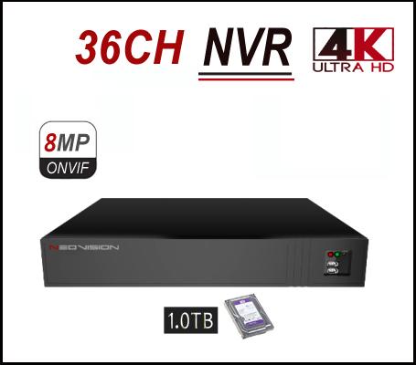 מכשיר הקלטה 36 ערוצים NVR 4K