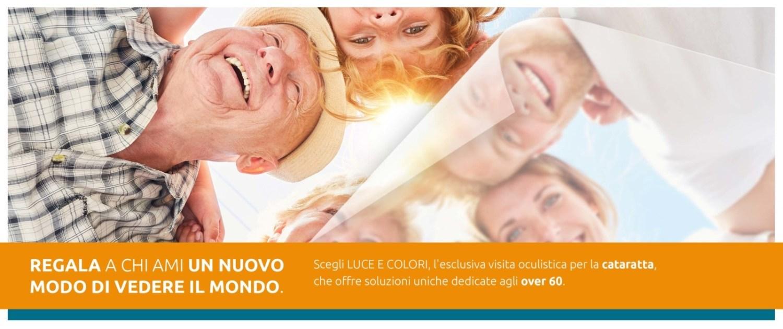 Cataratta: visita oculistica LUCE E COLORI - Cofanetto Regalo su Amazon - Neovision Cliniche Oculistiche