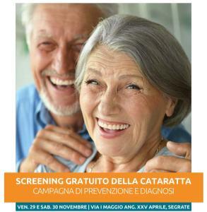 Screening gratuito della cataratta a Segrate