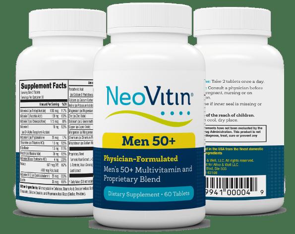 NeoVitin Mens 50 Plus Multivitamin 3 Bottles