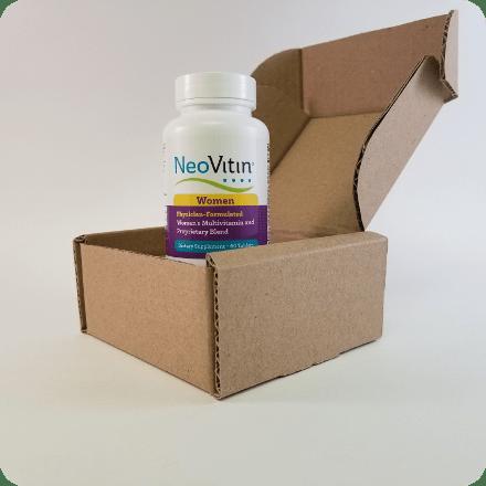 NeoVitin Womens Multivitamin Bottle in Shipping Box