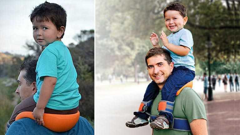 saddlebaby le sac a dos avec porte bebe integre